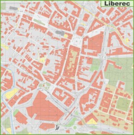 Liberec city center map