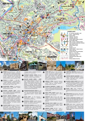 Liberec tourist map