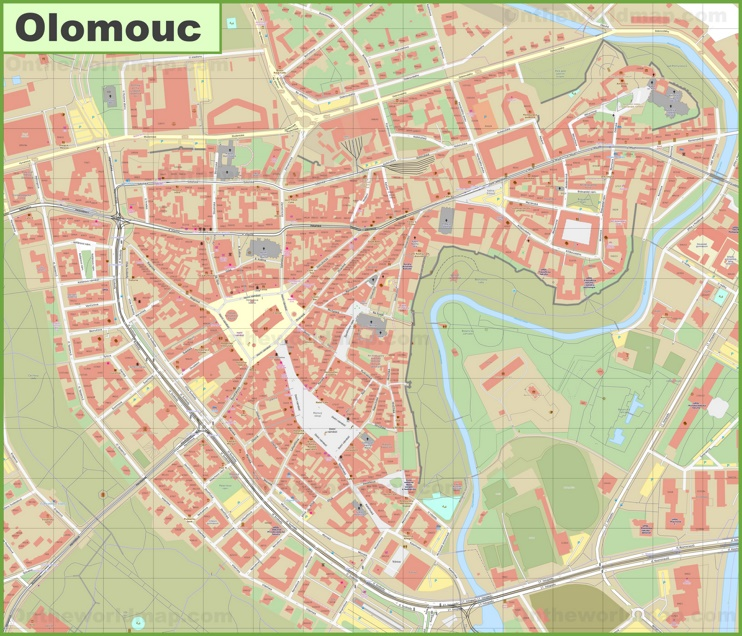 Olomouc city center map