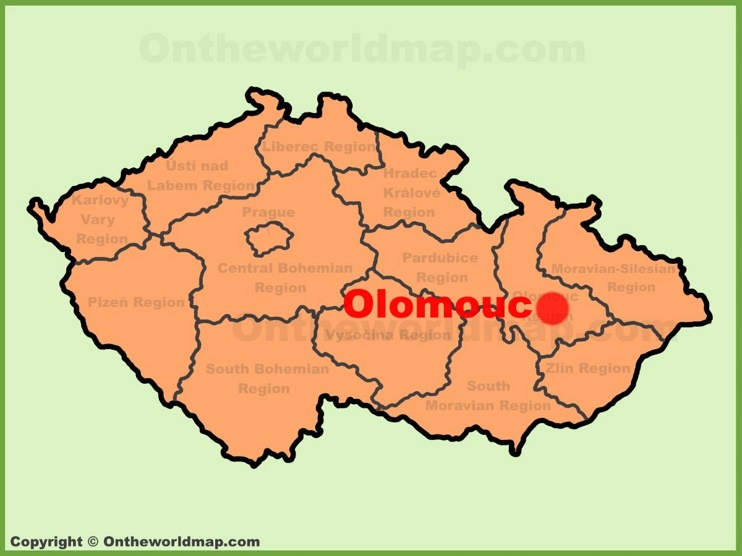 Olomouc location on the Czech Republic map
