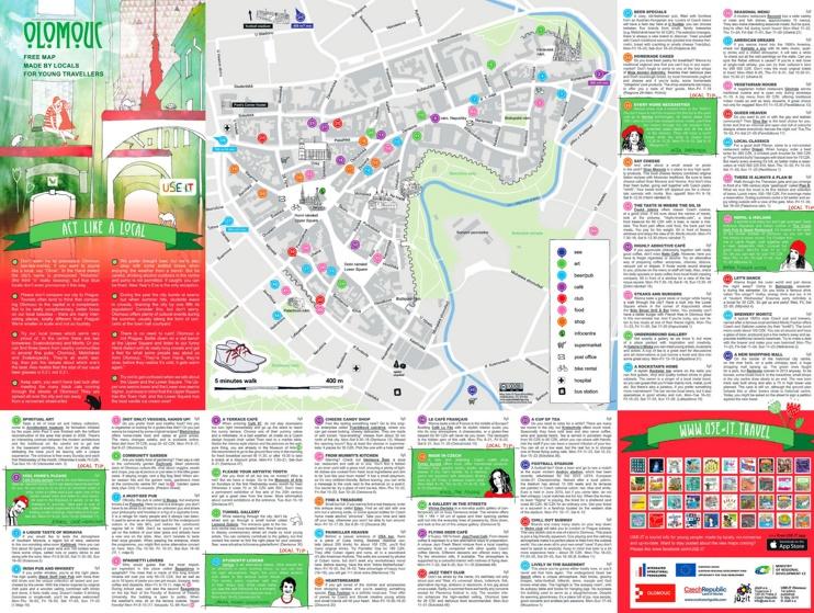 Olomouc sightseeing map