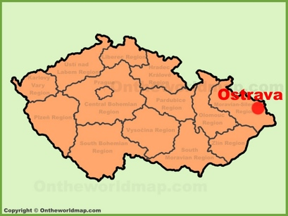 Ostrava Location Map