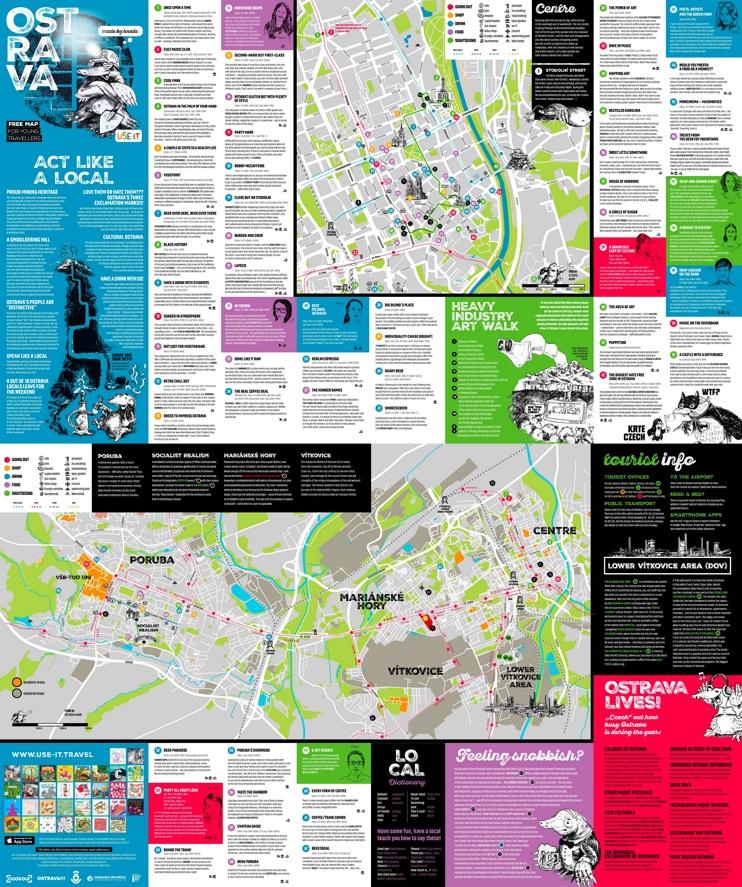 Ostrava sightseeing map