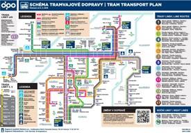 Ostrava tram map