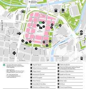 Plzeň sightseeing map