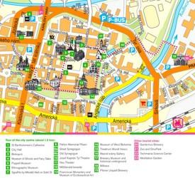 Plzeň tourist attractions map