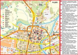 Plzeň tourist map