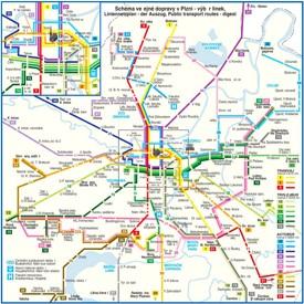 Plzeň transport map