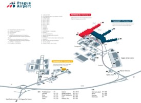 Prague airport map