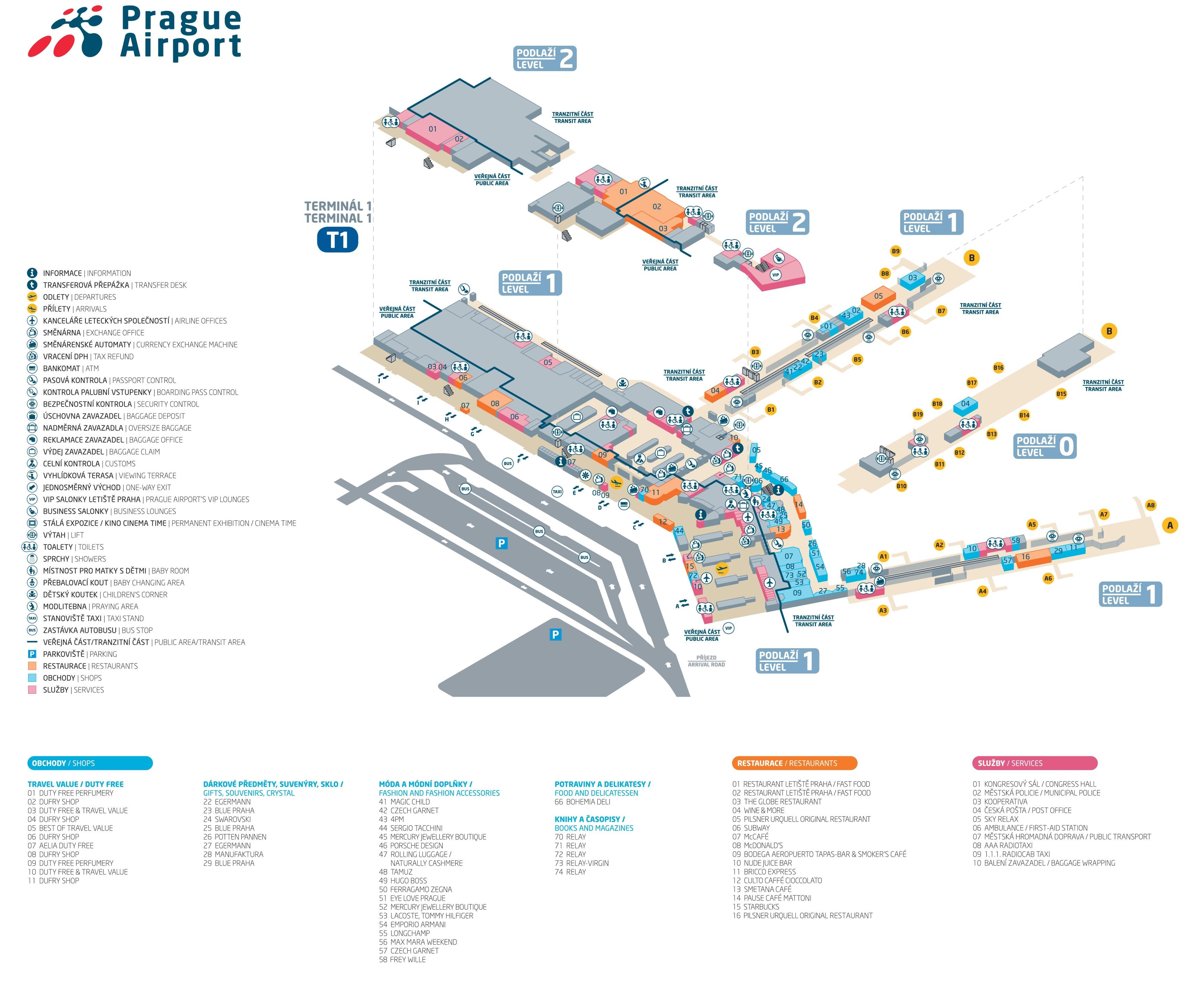 The Office Floor Plan Prague Airport Terminal 1 Map
