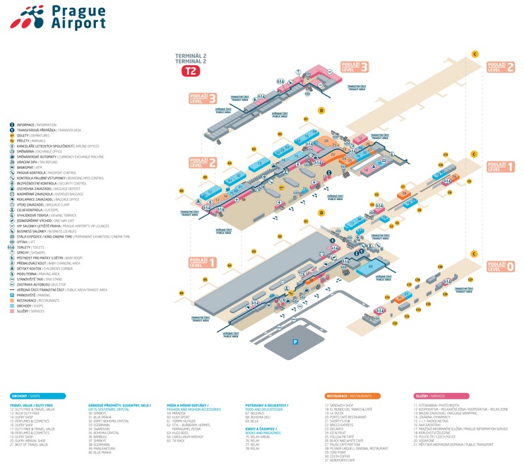 Prague airport terminal 2 map