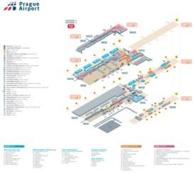 Prague airport terminal 2 map
