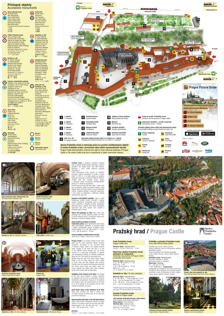 Prague castle map