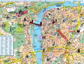 Prague hotel map