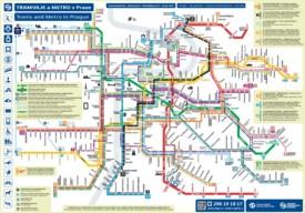 Prague metro and tram map