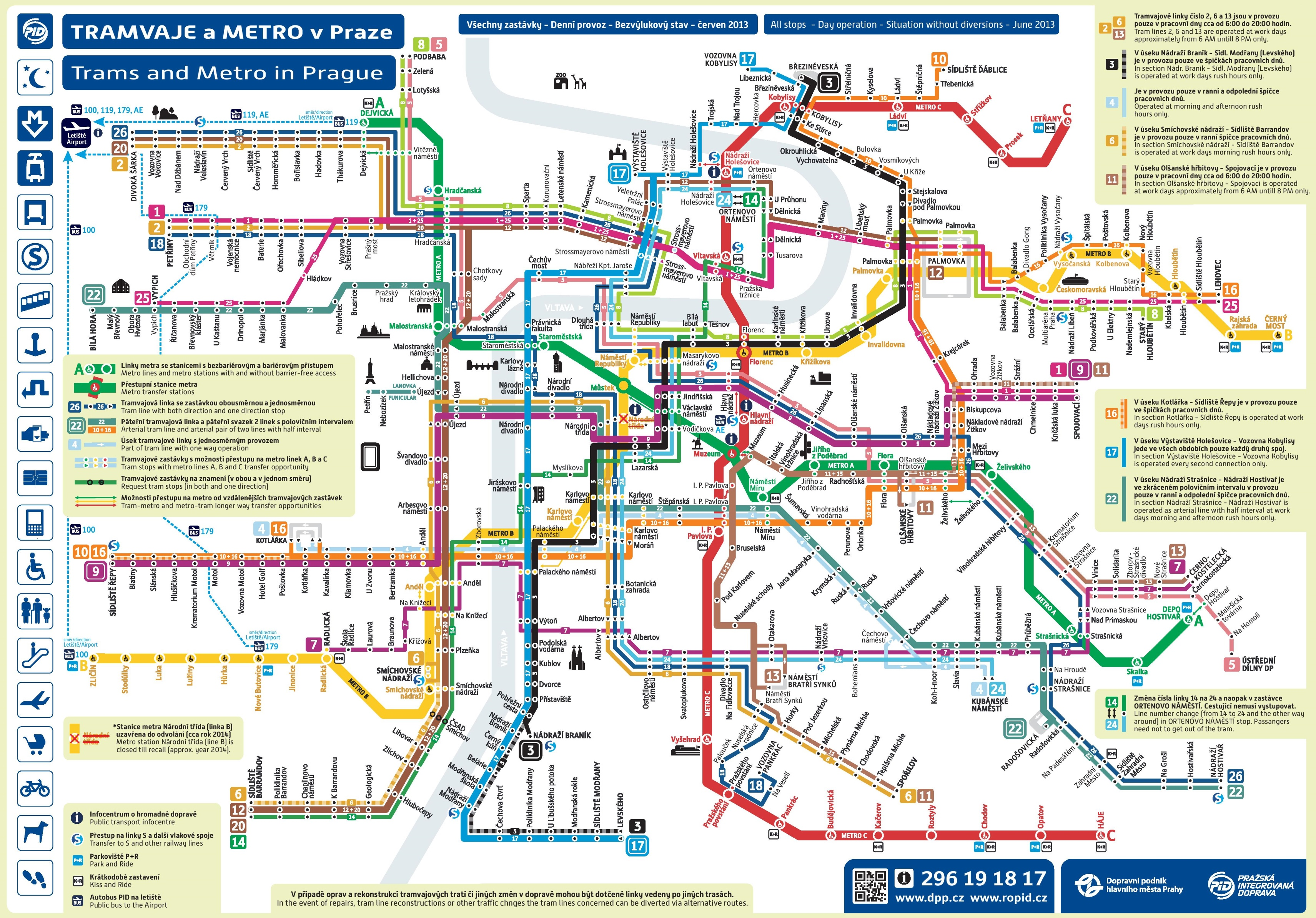 Prague Metro And Tram Map - Geneva tram map