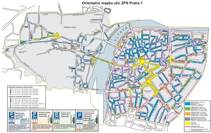 Prague parking map