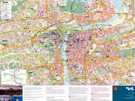 Prague sightseeing map