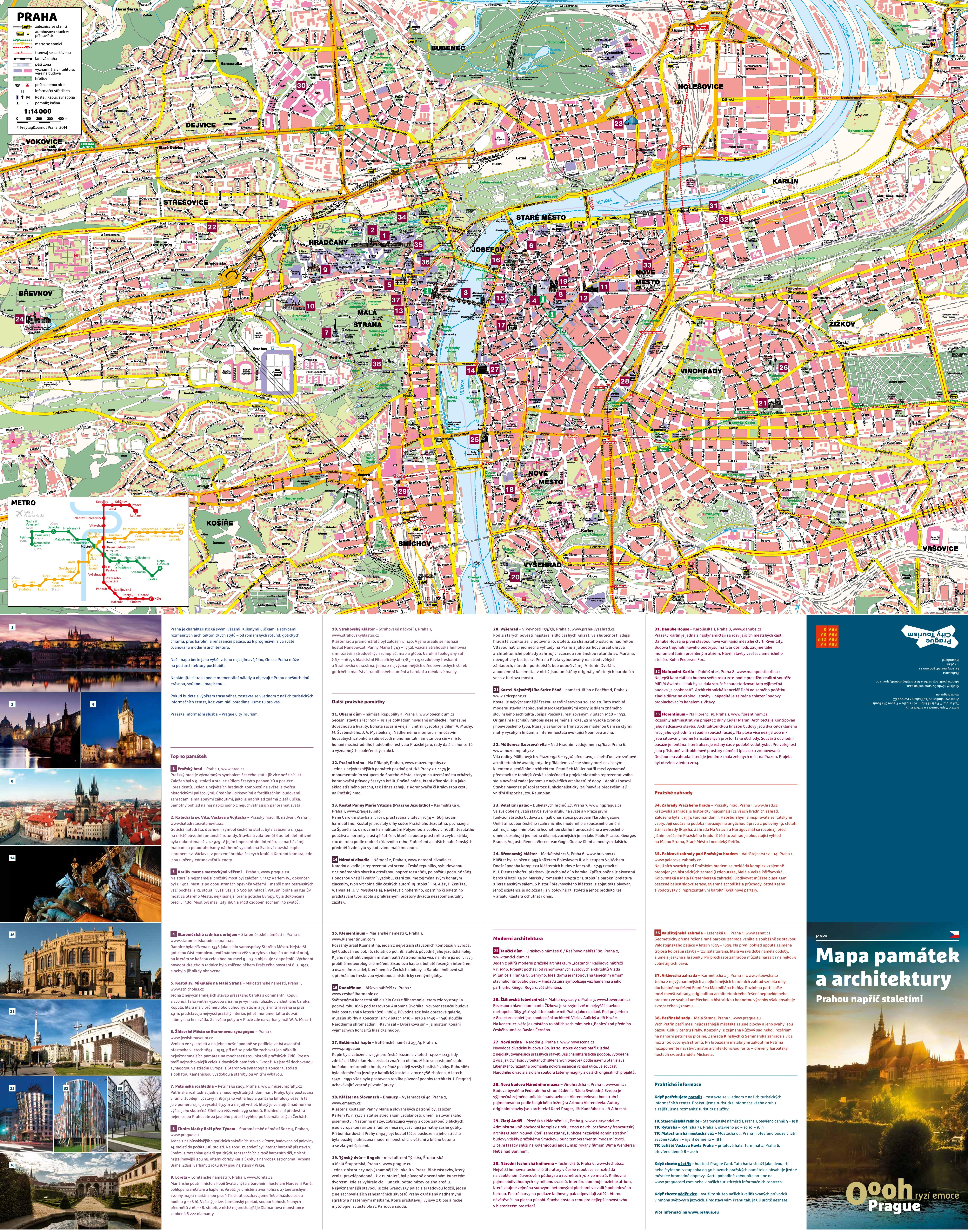 Prague sightseeing map – Prague Tourist Map