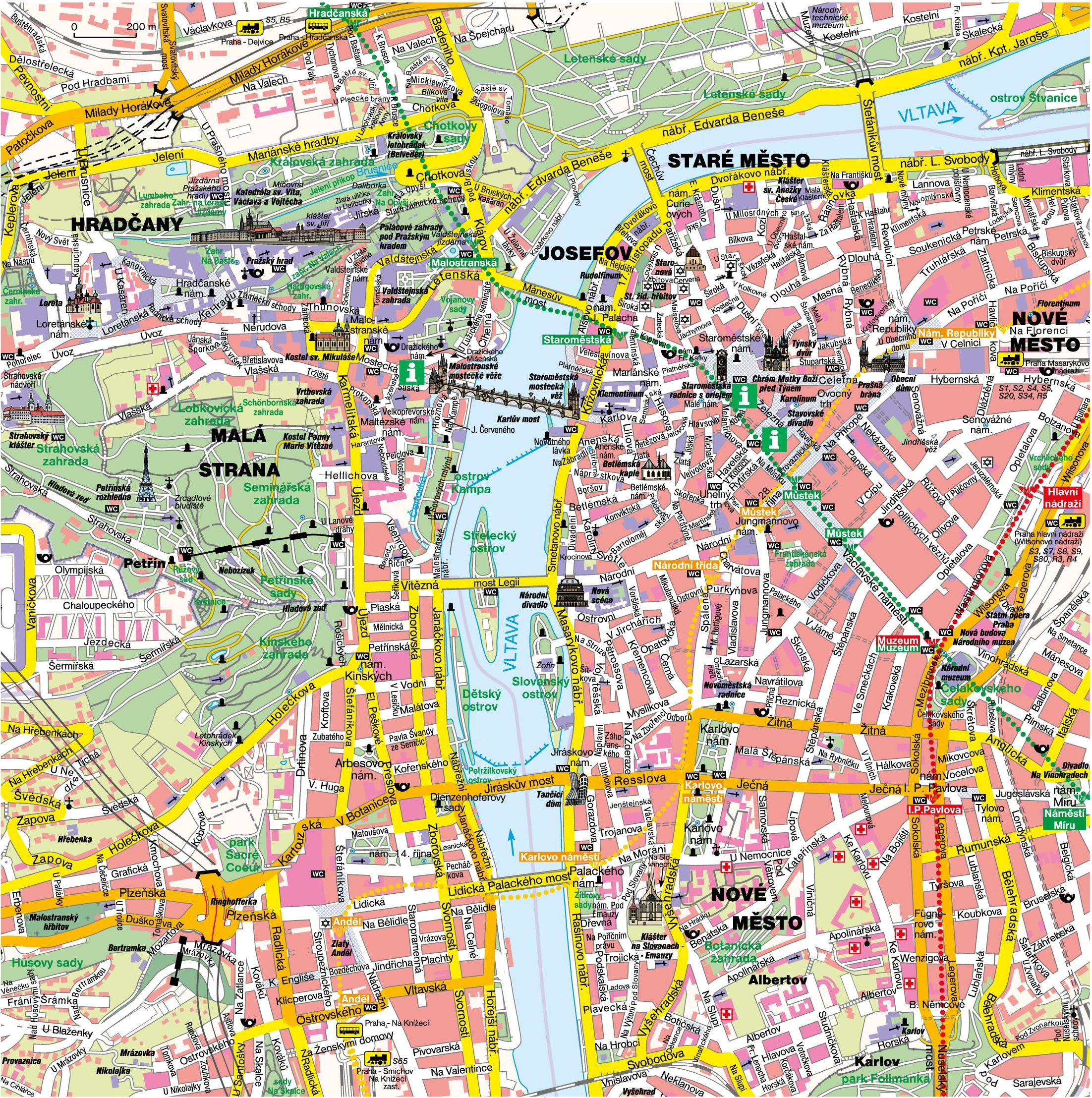 Prague street map