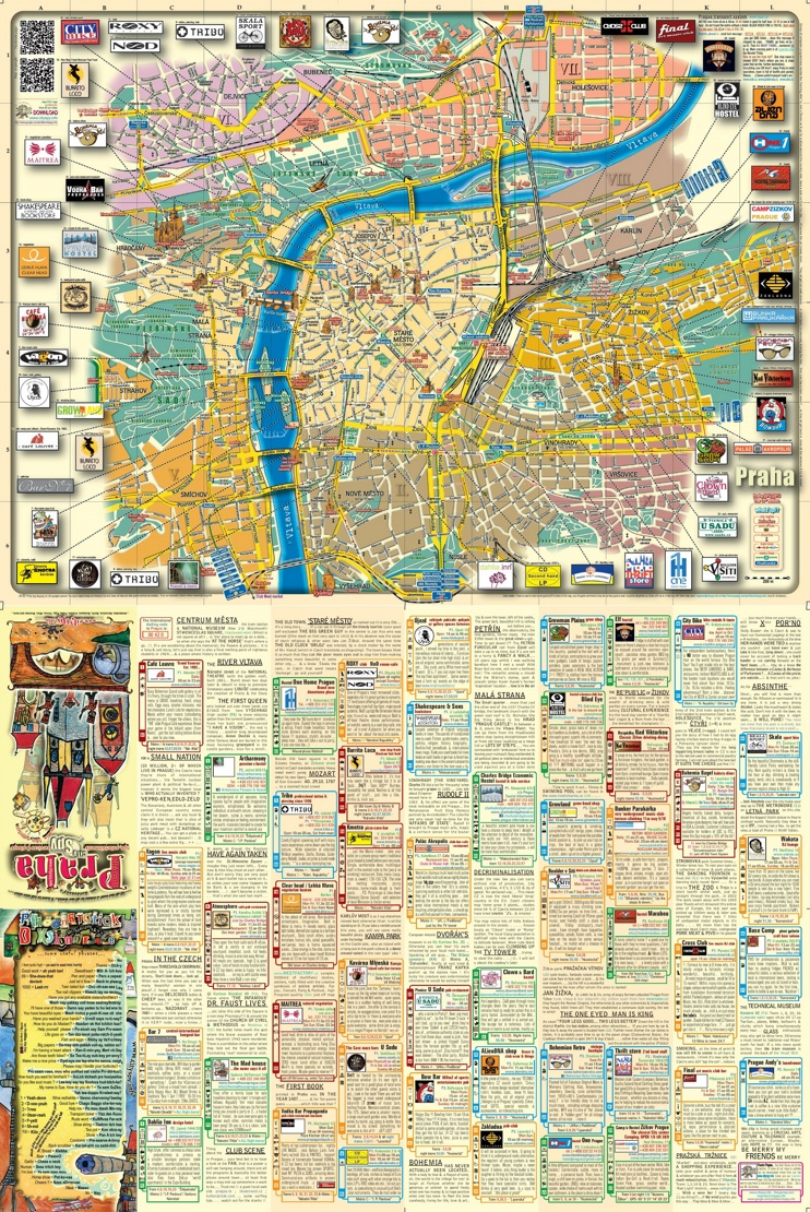 Prague tourist attractions map