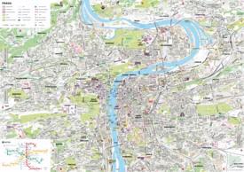 Prague tourist map