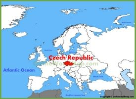 Czech Republic location on the Europe map