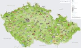 Czech Republic sightseeing map
