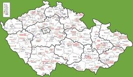 Tourist map of Czech Republic