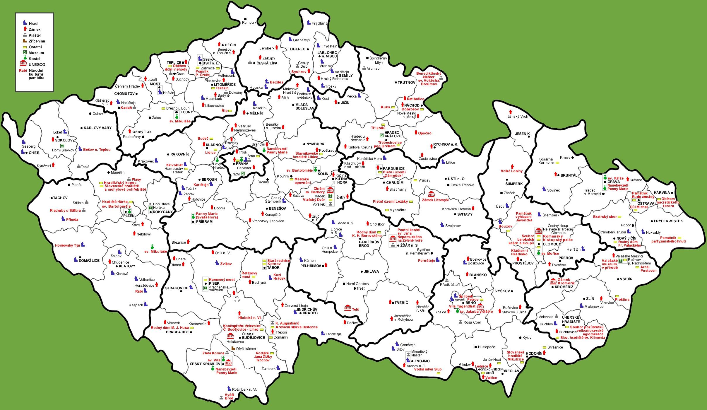 Tourist Map Of Czech Republic - Czech republic map