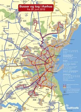 Aarhus bus map