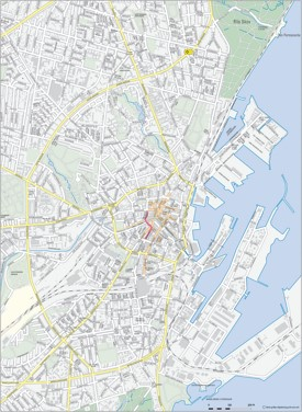 Aarhus city center map
