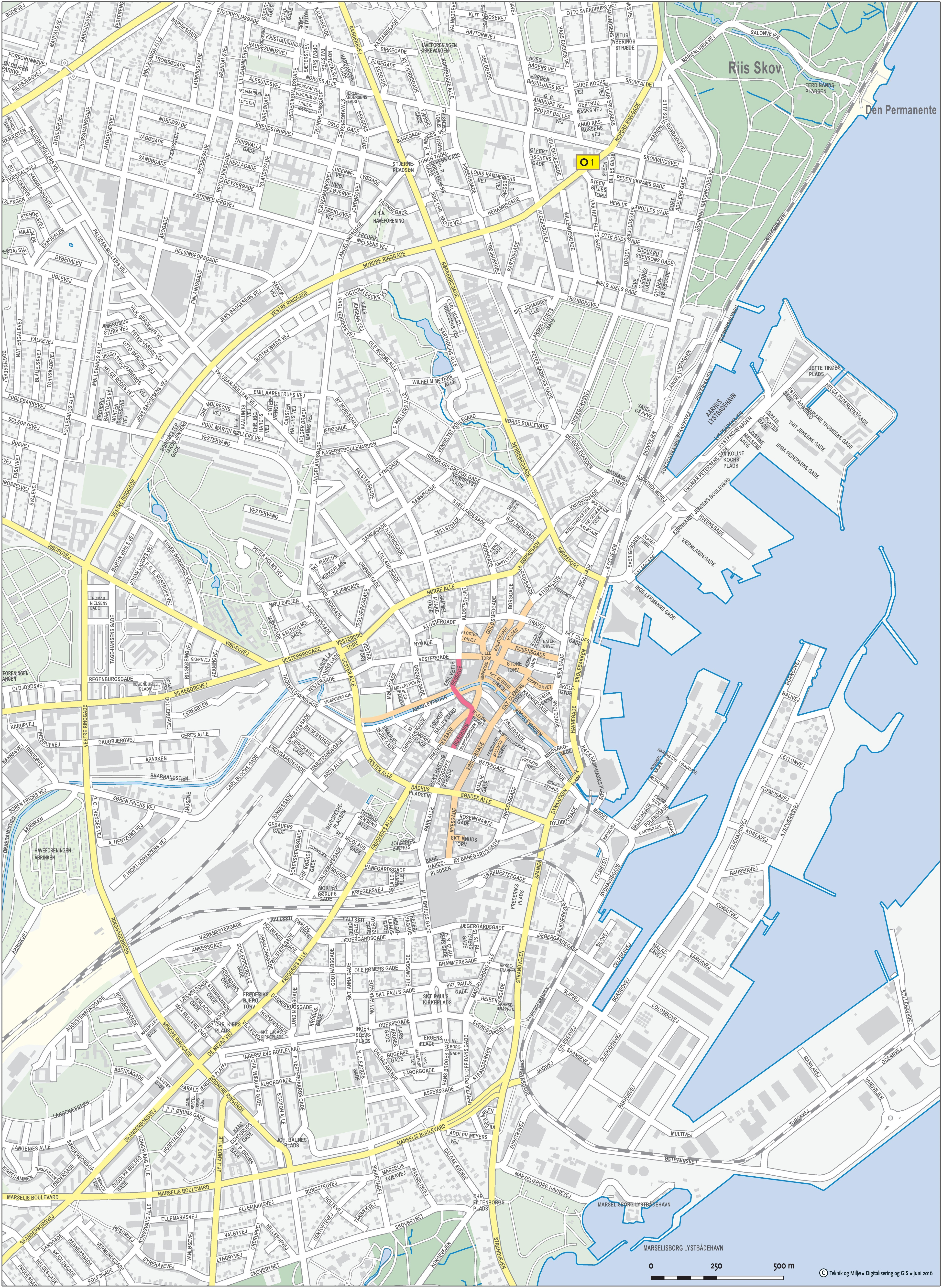 Aarhus city center map