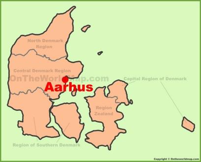 Aarhus Location Map