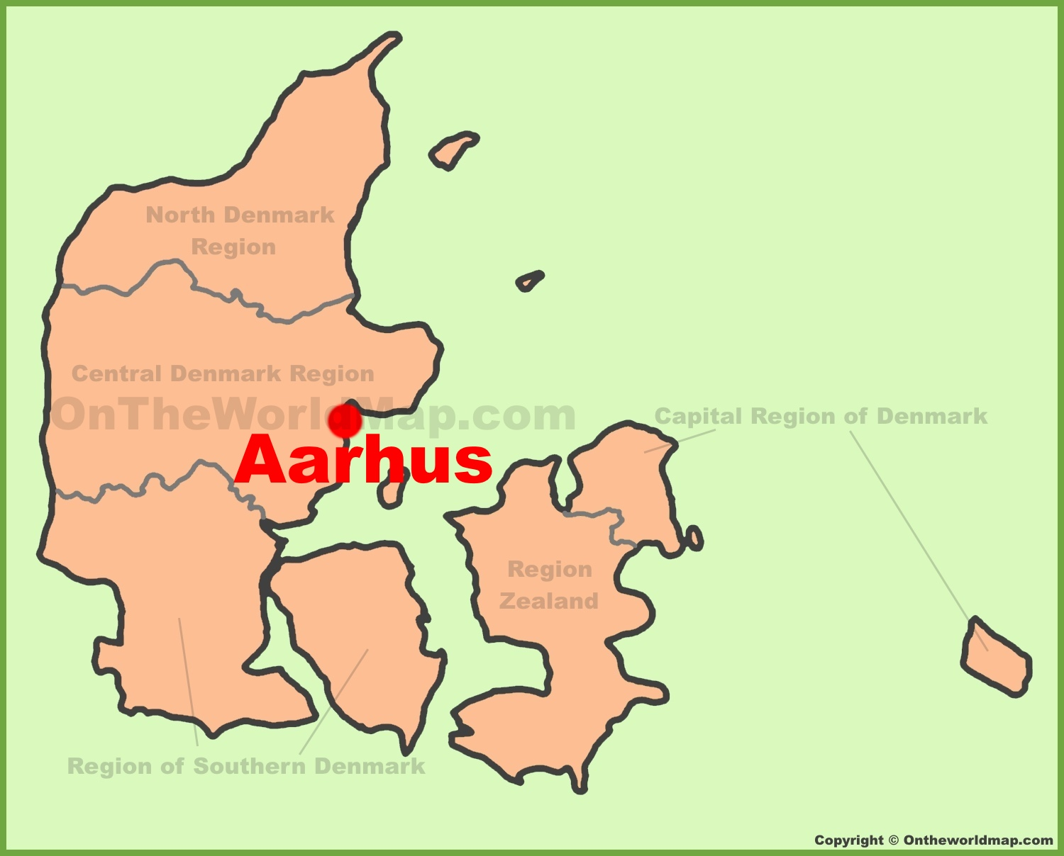 Aarhus location on the Denmark Map