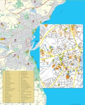 Aarhus sightseeing map