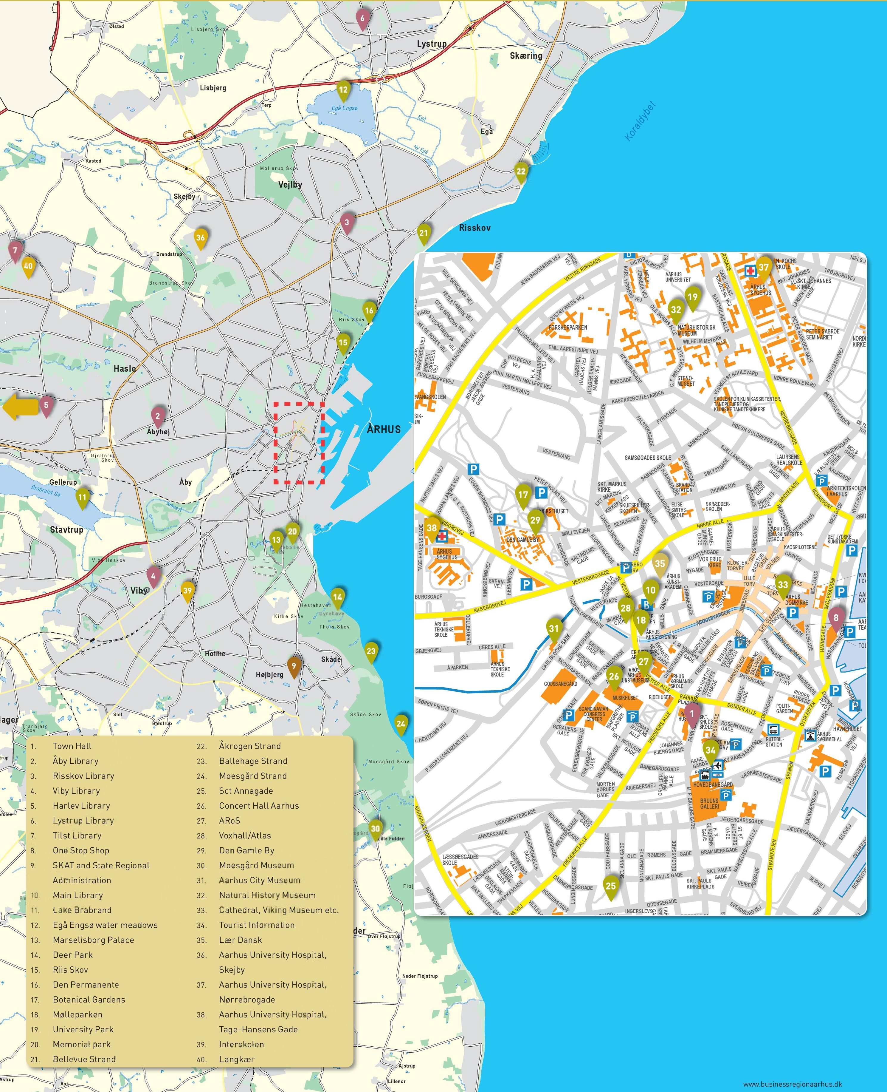 aarhus maps denmark maps of aarhus