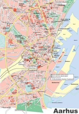 Aarhus tourist map