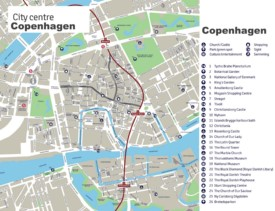 Copenhagen sightseeing map