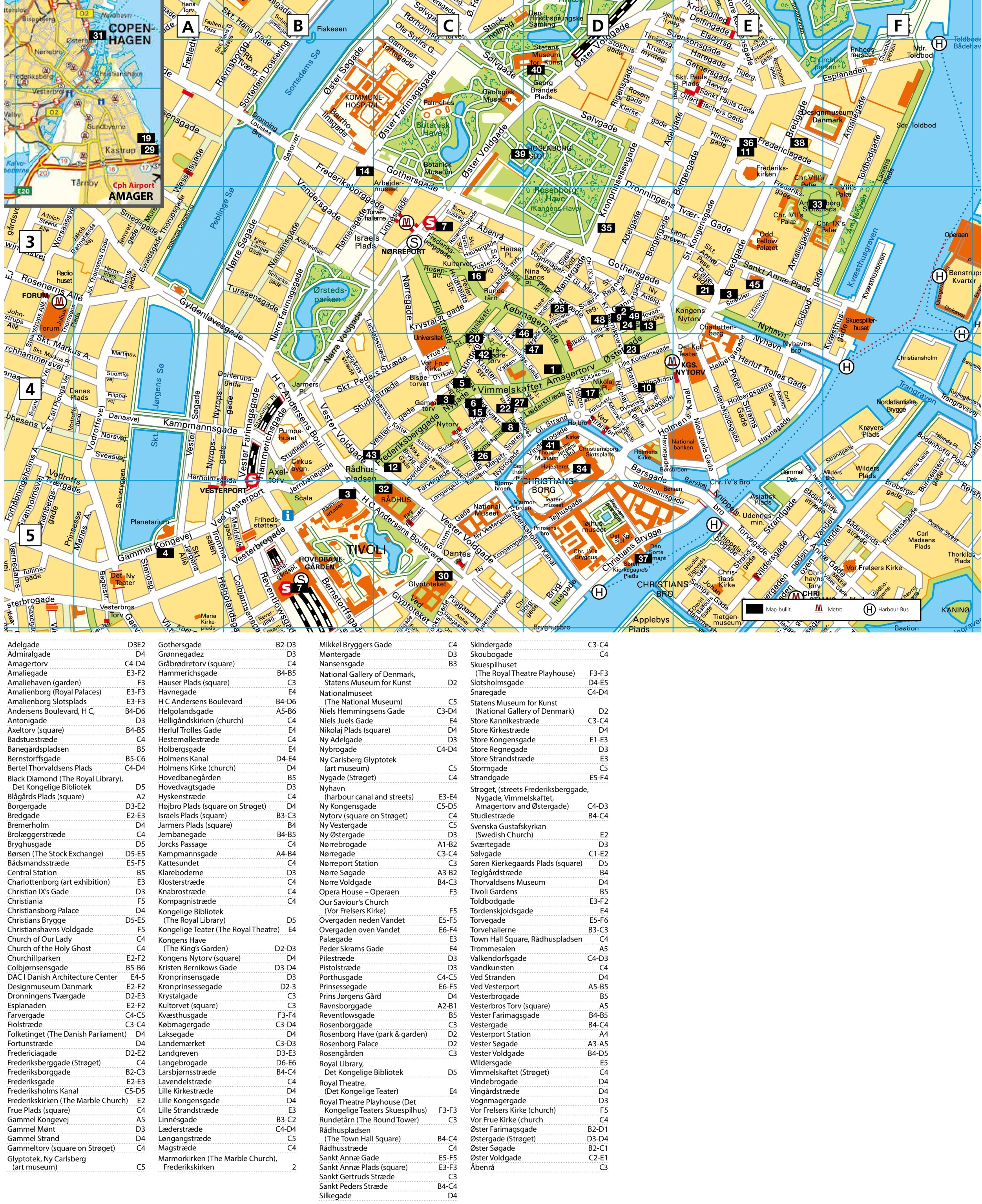 Copenhagen Tourist Attractions Map