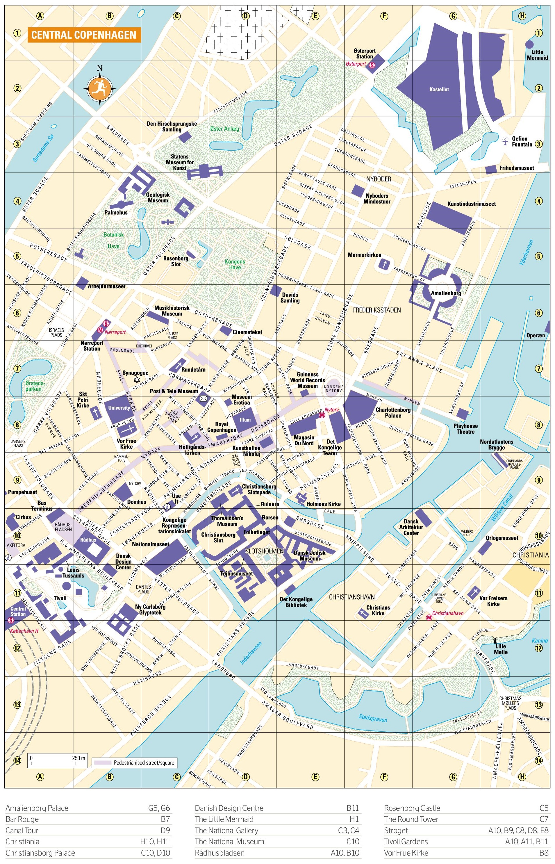 Copenhagen Maps Denmark – Copenhagen Tourist Attractions Map