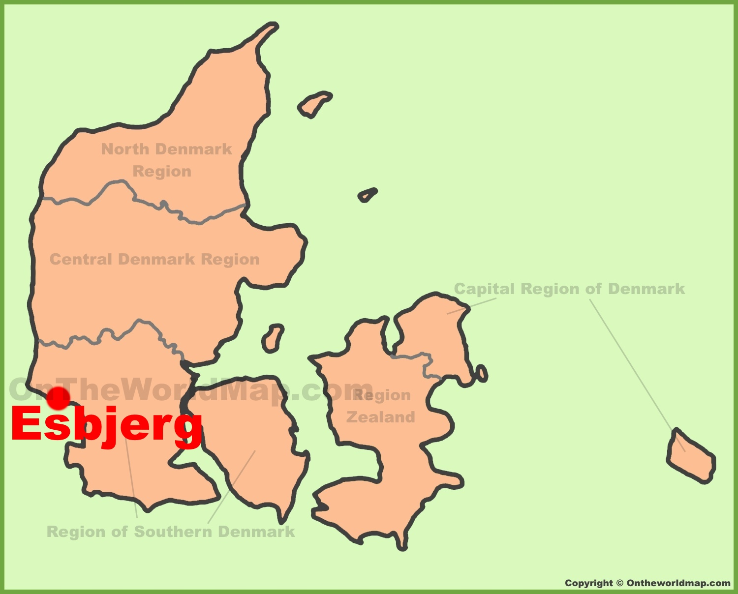 Esbjerg location on the Denmark Map