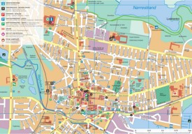 Horsens city center map