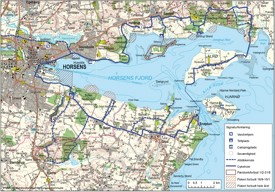 Horsens Fjord map