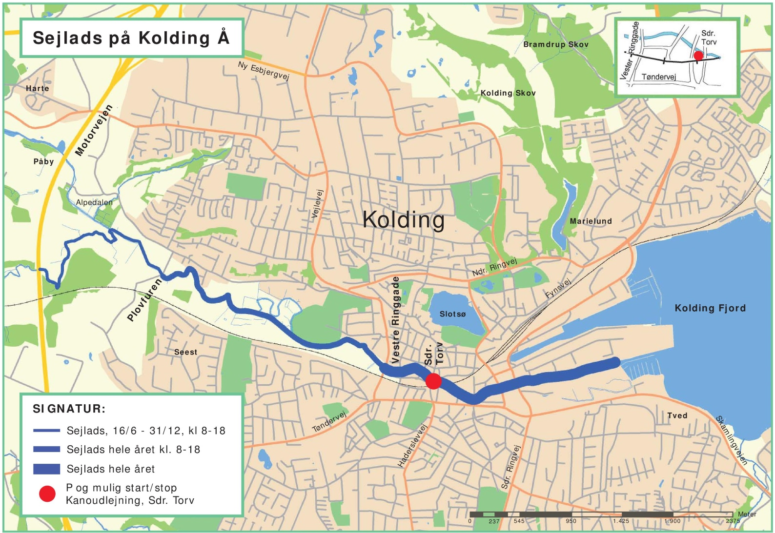 Kolding city map