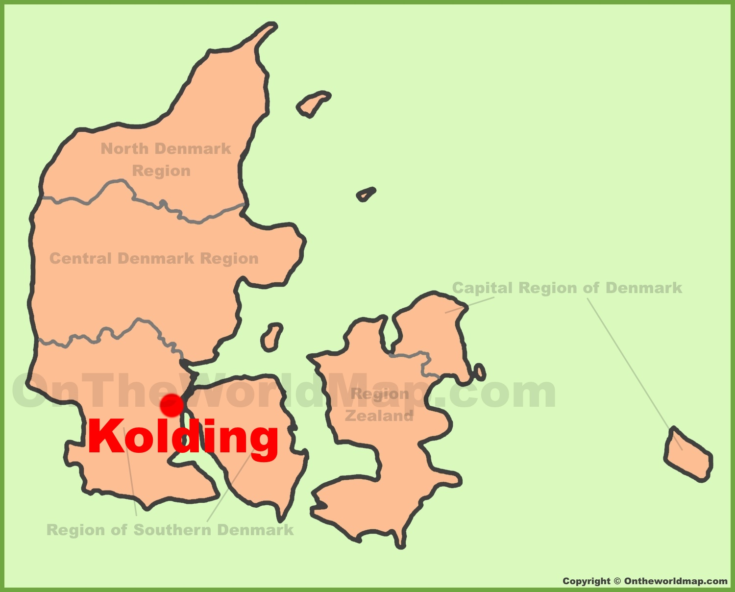 Kolding location on the Denmark Map