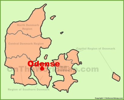 Odense Location Map