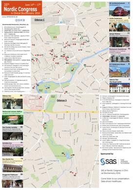 Odense tourist map