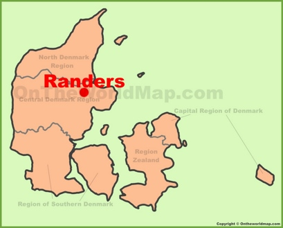 Randers Location Map