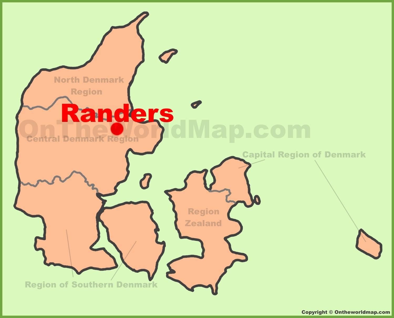 Randers location on the Denmark Map
